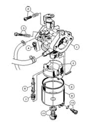 Picture of Carburetor assembly FE350