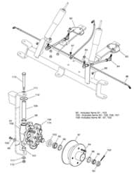 Picture of Tie rod assembly for front disc brakes