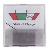 Picture of 36-volt analog sate of charge meter, square