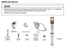 Picture of Kit, Seat Belt Assembly