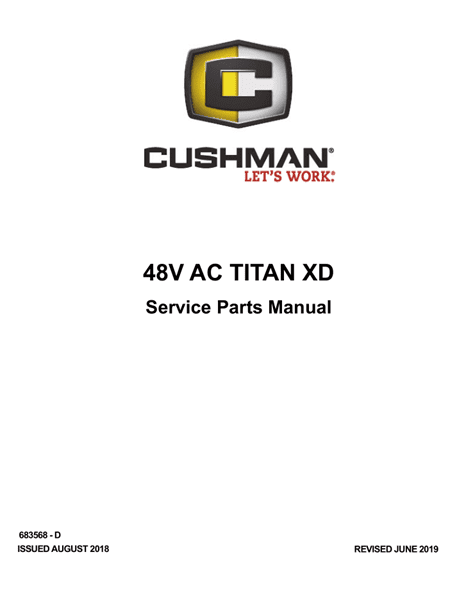 Picture of 2019 – CUSHMAN - 48V AC TITAN XD - SM - All elec/utility