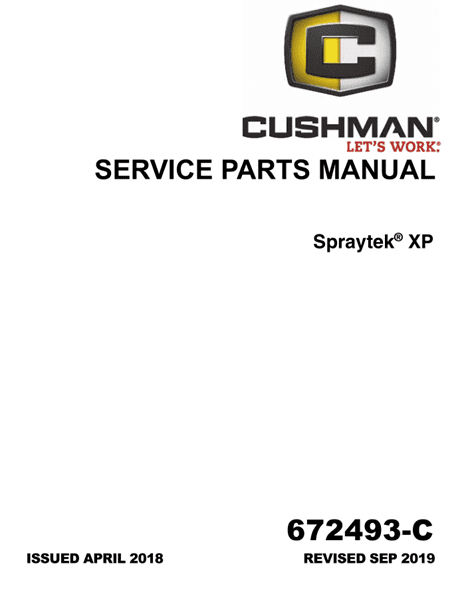 Picture of 2018 – CUSHMAN - Spraytek XP - SM - GAS