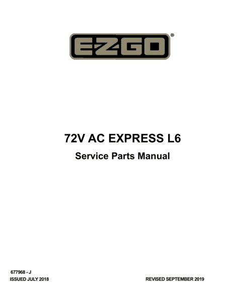 Picture of 2018 – E-Z-GO - EXPRESS L6 72V - SM - All elec/utility