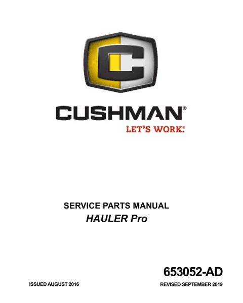 Picture of 2017 – CUSHMAN - HAULER pro  - SM - All elec/utility