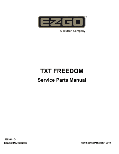 Picture of 2019 - E-Z-GO - TXT FREEDOM - SM - GAS