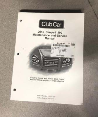 Picture of Service manual, Club Car Carryall/Turf 300