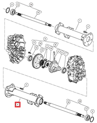 Picture of AXLE CASE R COMPL., ED65