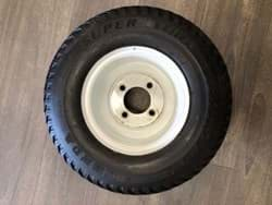 Picture of Used | Kenda Tyre Super Turf 18x8.50-8 6ply - mounted on A white rim | 2 pieces