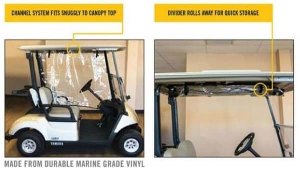 Picture of Drive center divider, for the Club Car Precedent & Tempo