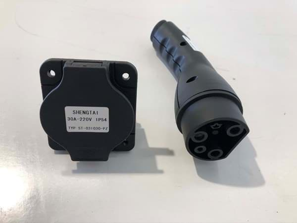 Picture of Used | Charger Plug, 30A-220v + Receptacle | 2 pieces
