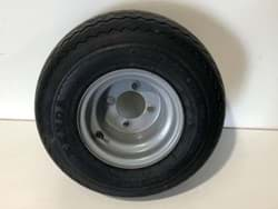 Picture of Used | 2 pieces | Wheel Assembly. Wanda Tyre 18x8.50-8 4ply - Mounted On A Silver Rim