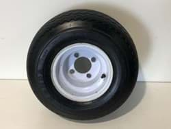 Picture of Used | Wheel Assembly. Wanda Tyre 18x8.50-8 4ply - Mounted On A White Rim | 2 pieces