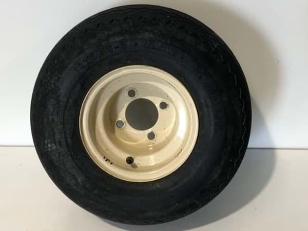 Picture of Used |Kenda Tire 18x8.50-8 4ply -Mounted On A Beige Rim | 2 pieces