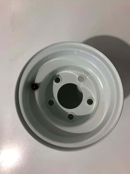 Picture of 8x3.75 White Steel Wheel, Centered (5 Hole)